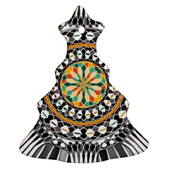 High Contrast Mandala Christmas Tree Ornament (two Sides) by linceazul