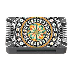 High Contrast Mandala Memory Card Reader With Cf by linceazul