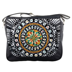 High Contrast Mandala Messenger Bags by linceazul