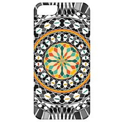 High Contrast Mandala Apple Iphone 5 Classic Hardshell Case by linceazul