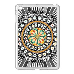High Contrast Mandala Apple Ipad Mini Case (white) by linceazul