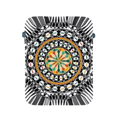 High Contrast Mandala Apple Ipad 2/3/4 Protective Soft Cases by linceazul