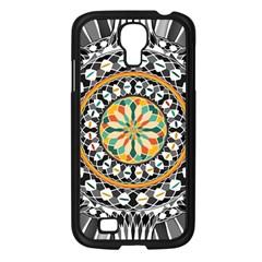 High Contrast Mandala Samsung Galaxy S4 I9500/ I9505 Case (black) by linceazul