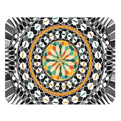 High Contrast Mandala Double Sided Flano Blanket (large)  by linceazul