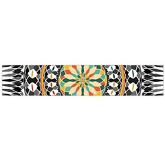 High Contrast Mandala Flano Scarf (large)  by linceazul