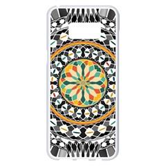 High Contrast Mandala Samsung Galaxy S8 Plus White Seamless Case by linceazul