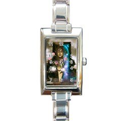 The Wonderful Women Of Earth Rectangle Italian Charm Watch by FantasyWorld7