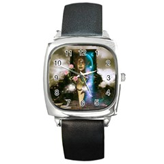 The Wonderful Women Of Earth Square Metal Watch by FantasyWorld7