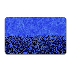 Modern Paperprint Blue Magnet (rectangular) by MoreColorsinLife