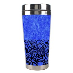 Modern Paperprint Blue Stainless Steel Travel Tumblers by MoreColorsinLife