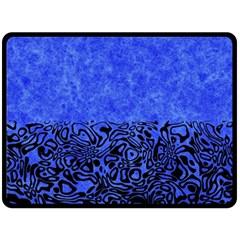 Modern Paperprint Blue Double Sided Fleece Blanket (large)  by MoreColorsinLife