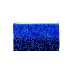 Modern Paperprint Blue Cosmetic Bag (xs)