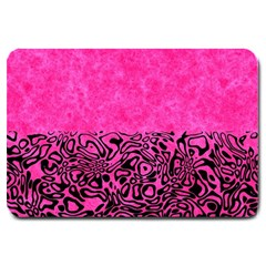 Modern Paperprint Hot Pink Large Doormat  by MoreColorsinLife