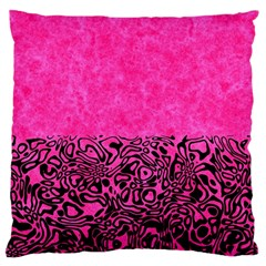 Modern Paperprint Hot Pink Large Flano Cushion Case (two Sides)