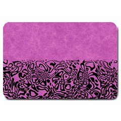 Modern Paperprint Pink Large Doormat  by MoreColorsinLife