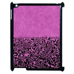 Modern Paperprint Pink Apple Ipad 2 Case (black) by MoreColorsinLife