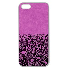 Modern Paperprint Pink Apple Seamless Iphone 5 Case (clear) by MoreColorsinLife