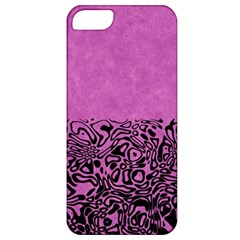 Modern Paperprint Pink Apple Iphone 5 Classic Hardshell Case by MoreColorsinLife