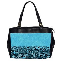 Modern Paperprint Turquoise Office Handbags (2 Sides)  by MoreColorsinLife