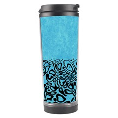 Modern Paperprint Turquoise Travel Tumbler by MoreColorsinLife