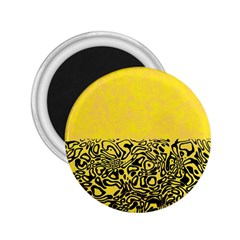 Modern Paperprint Yellow 2 25  Magnets by MoreColorsinLife