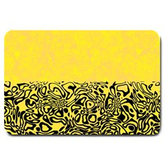 Modern Paperprint Yellow Large Doormat  by MoreColorsinLife