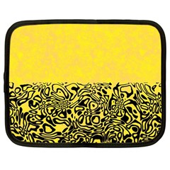 Modern Paperprint Yellow Netbook Case (large) by MoreColorsinLife