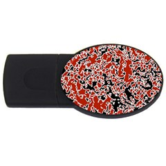 Splatter Abstract Texture Usb Flash Drive Oval (2 Gb) by dflcprints