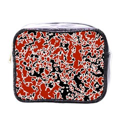 Splatter Abstract Texture Mini Toiletries Bags by dflcprints