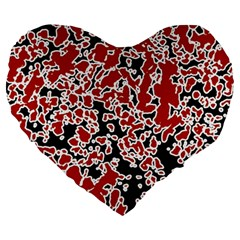 Splatter Abstract Texture Large 19  Premium Heart Shape Cushions by dflcprints
