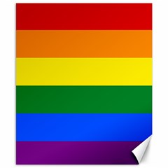 Pride Flag Canvas 8  X 10  by Valentinaart