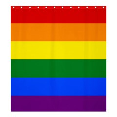 Pride Flag Shower Curtain 66  X 72  (large)  by Valentinaart