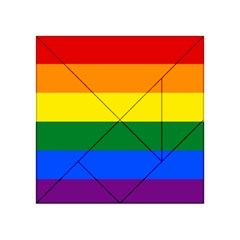 Pride Flag Acrylic Tangram Puzzle (4  X 4 ) by Valentinaart