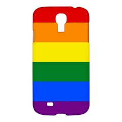 Pride Flag Samsung Galaxy S4 I9500/i9505 Hardshell Case by Valentinaart