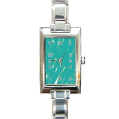 Background Green Abstract Rectangle Italian Charm Watch