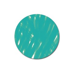 Background Green Abstract Magnet 3  (round) by Nexatart