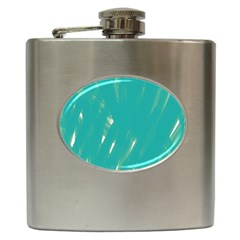 Background Green Abstract Hip Flask (6 Oz)