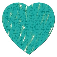 Background Green Abstract Jigsaw Puzzle (heart) by Nexatart