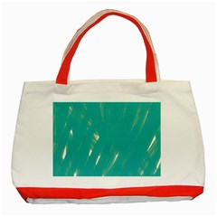 Background Green Abstract Classic Tote Bag (red)