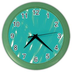 Background Green Abstract Color Wall Clocks