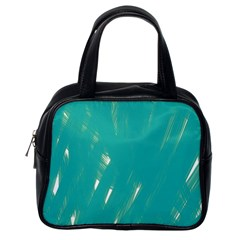 Background Green Abstract Classic Handbags (one Side)