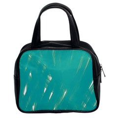 Background Green Abstract Classic Handbags (2 Sides)