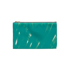 Background Green Abstract Cosmetic Bag (small)