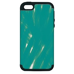 Background Green Abstract Apple Iphone 5 Hardshell Case (pc+silicone)