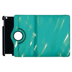Background Green Abstract Apple Ipad 3/4 Flip 360 Case by Nexatart
