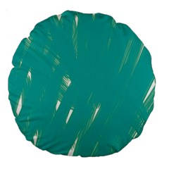 Background Green Abstract Large 18  Premium Round Cushions