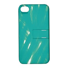 Background Green Abstract Apple Iphone 4/4s Hardshell Case With Stand by Nexatart