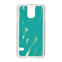 Background Green Abstract Samsung Galaxy S5 Case (white)