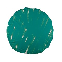 Background Green Abstract Standard 15  Premium Flano Round Cushions