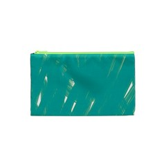 Background Green Abstract Cosmetic Bag (xs)